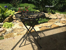 folding BISTRO shabby iron scroll outdoor patio furniture small side end table