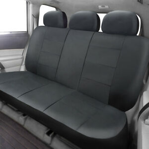 Universal Car Rear Back Seat Cover Black Leather Waterproof Anti-duty Large Size