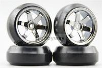 1/10 Rc Drift Car Wheels & Tires Set For Yokomo Mst Sakura Tamiya Hpi Kyosho