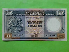 Hong Kong $20 HSBC Bank 1st Jan 1989 (UNC) 5pcs RN  全新UNC 香港 汇丰银行 1989年 20元 RARE