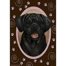 Paws House Flag - Black Puggle 17280