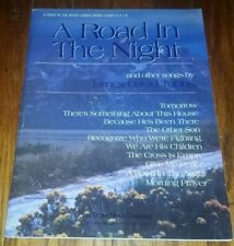 A ROAD IN THE NIGHT sheet music song book JAMES DAVID TUBBS guitar piano vocals