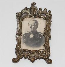 antiker Bilderrahmen mit Soldat/Orden für Puppenstube ca. 1900  #G297