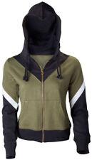 Women's Zip Neck Striped Hoodies & Sweats