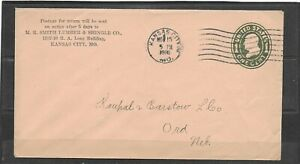 1916 M.R. Smith Lumber & Shingle Co., Kansas City, MO Advertising Envelope