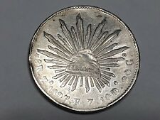 1897 Zs F.Z. Mexico 8 REALES  Coin Silver 0.903 10 Ds 20 Gs XF