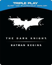 THE DARK KNIGHT/BATMAN BEGINS BLU RAY STEEL BOX