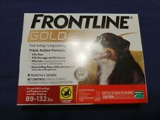 Merial Frontline Gold for Dogs 89 - 132 lbs 3 doses - FLEA AND TICK CONTROL