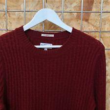 £120 Gant Rugger crewneck sweater/jumper/knitwear S SMALL Mens red/wine