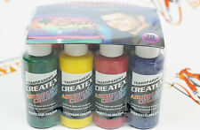 DVD + 11 colors + cleaner Createx Airbrush Colors Paints Set 2oz 5814-00