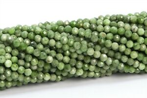 """3MM Genuine Natural Chrome Diopside Bead Grade AB Faceted Round Loose Bead 15.5"""""""