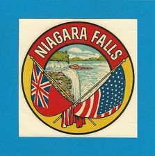 "ORIGINAL VINTAGE 1946 GOLDFARB ""NIAGARA FALLS"" NEW YORK TRAVEL WATER DECAL ART"