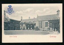 Cambridgeshire CHRIST COLLEGE c1902 u/b Embossed PPC by Stengel