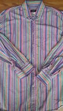 PAUL & SHARK Yachting Men's Stripe Cotton L/S Shirt Size XL~Made in Italy