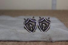 Knight Crest Handsom Cyvra Cuff links, , Men's Women's Jewelry