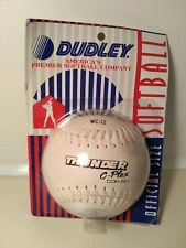 """Dudley 12"""" Thunder C-Plex Wc-12 Cor .50 Softball Official Size Brand New Sealed"""