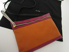 Paul smith en cuir rose hero pochette made in italy rrp £ 299