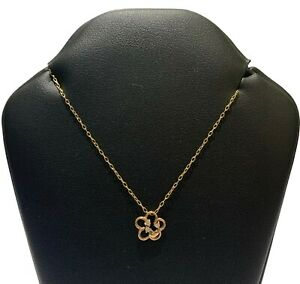 9ct Yellow Gold Cable Chain Necklace and 0.03ct (Approx) Diamond Pendant