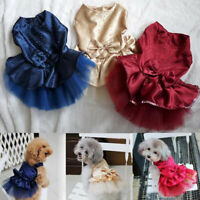 Princess Dog Dresses Puppy Cat Christmas Tutu Dress Pet Party Clothing Apparel