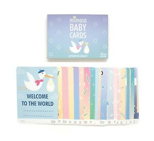 Mimosa Baby Cards - Set of 32 Milestone Cards for 0-1 year olds