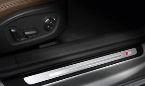 4x Audi door sill s-line sticker decal logo fits A6 A7 A8 A3 A4 Q7 Q5 RS