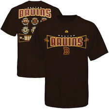 NWT Majestic Boston Bruins History Goalkeeper Vintage Brown Cotton T-Shirt 2XL