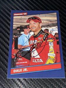 """Dale Earnhardt Jr DONRUSS 2019 NASCAR """"DALE JR"""" VARIATION HOFer autographed card"""