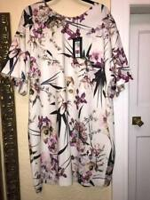 BNWT MARKS & SPENCER COLLECTION SHORT SLEEVE IVORY MIX UNLINED DRESS SIZE 22