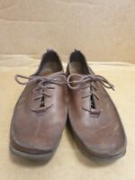 E209 MENS ECCO BROWN LEATHER LACE UP LATEX SOLE SHOES UK 7 EU 40 US 9