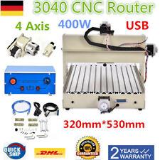 400W USB Graveur Graviergerat CNC 3040 Router Graviermaschine 4Axis Fräsmaschine