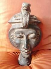 RARE Antique Egyptian Mask of Ancient Pharaoh King AKHENATON Collection...LARGE