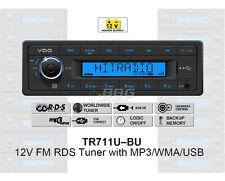 12 Volt PKW Auto Radio, RDS-Tuner, MP3, WMA, USB 12V Blau TR711U-BU (TR7311U-OR)