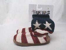 Muk Luks Women's Vanessa Slippers Red/White/Blue GG8 Size Large (8-9)