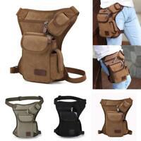 Tactical Outdoor Drop Leg Bag Thigh Pouch Utility Waist Belt Military Bag Q