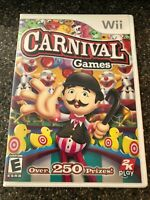 Nintendo Wii - CARNIVAL GAMES - Family Fun 25+ Games Alley Ball 4 Player - CIB