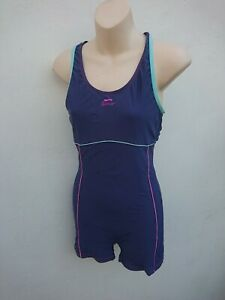 Slazenger Blue Swimsuit Tankini One Piece Shorts Swimming Costume UK 12