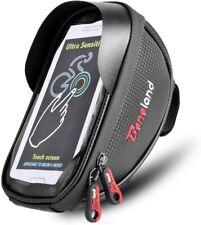 "Bike Front Phone Holder Case Waterproof Top Tube Frame Bag Touch Screen below 6"""