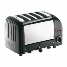 More details for dualit classic 4 slice vario toaster | stainless steel black, 40344