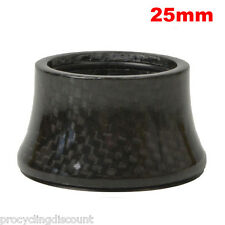 "OMNI Racer WORLDS LIGHTEST Integrated Headset Conical Carbon Spacer 1-1/8"" 25mm"