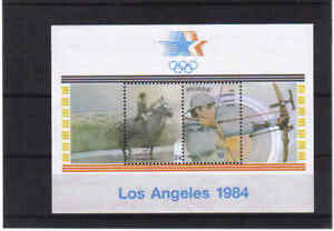 BELGIUM 1984 LOS ANGELES OLYMPICS  m/s  MNH** BLOK 60