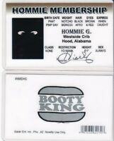 HOMMIE MEMBERSHIP for your Crib Home Boys bros Drivers License fake id i.d. card