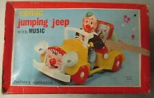 Vintage Comic Jumping Jeep With Music Battery Operated Clown Toy With Box Tested