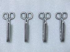 WW2 German Tunic Belt Aluminum Hooks (4 pcs)