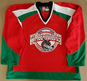 Ely Timberwolves High School Minnesota Hooter Hockey Jersey Large Blank Back