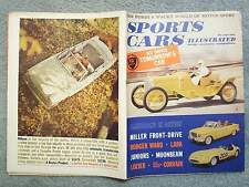 1960 SPORTS CARS ILLUSTRATED MAGAZINE JULY VOL. 6 NO. 1 PRINZ WANKEL ENGINE