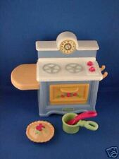 FISHER PRICE Briarberry Kitchen Stove Range Pot Spoon pie 3 + Boys & Girls