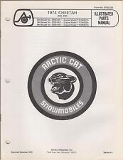 1974 ARCTIC CAT SNOWMOBILE CHEETAH 340,440 + ENGINES PARTS MANUAL(268)