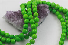 """16"""" Howlite Turquoise Loose Beads Round 10mm APPLE GREEN"""