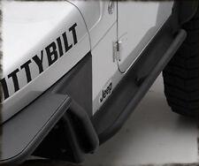 Smittybilt XRC Armor Rock Sliders w/ Step 87-95 Jeep Wrangler 76861 Black