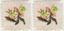Exotic Spider Mum Lime Flower embroidery applique patch